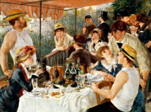 Pierre-August Renoir's Luncheon of the Boating Party (1881).