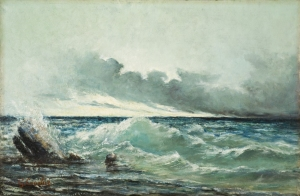 Gustave Courbet, La Vague, 1869. ©SABAM Belgium 2014