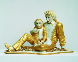Mickael Jackson and Bubbles, 1988 © Jeff Koons
