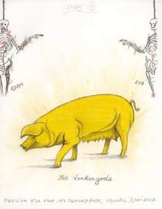 Jan Fabre REQUIEM POUR UNE MÉTAMORPHOSE 2007, crayon et crayon de couleur sur papier. Coll. Angelos © Angelos