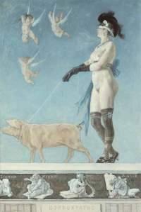 Félicien Rops PORNOCRATÈS 1878, aquarelle, pastel et rehauts de gouache. Coll. Fédération Wallonie- Bruxelles, dépôt au musée Félicien Rops, Province de Namur, inv. CFR 10