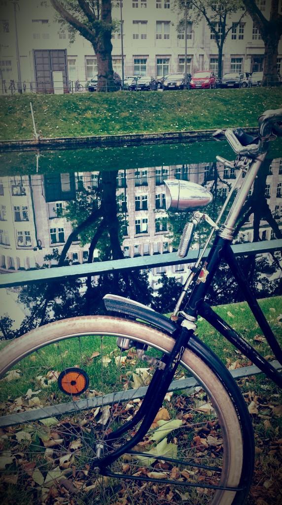 Königsallee, bicycle reflection